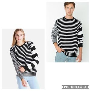 American Apparel Striped Recycled Cotton S…